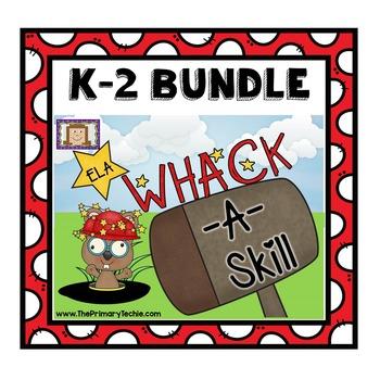 Whack-A-Reading Skill K-2 Mega Bundle