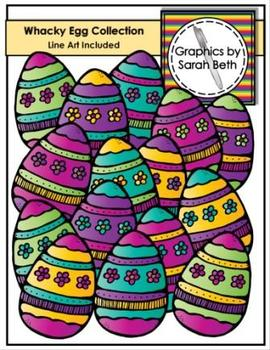 Whacky Egg Collection - Easter Eggs Clip Art - Graphics
