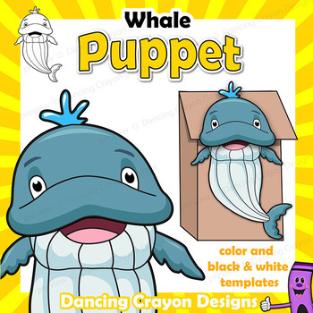 Whale Craft Activity | Paper Bag Puppet Template