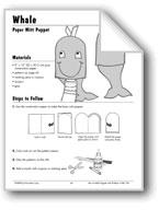 Whale Paper Mitt Puppet