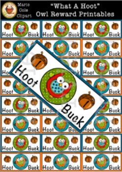 """What A Hoot!"" Owl Hoot Buck Rewards Printables [Marie Col"