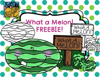 Watermelon FREEBIE What a Melon Clip Art Commercial and Pe