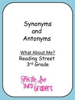 What About Me? Synonyms and Antonyms with Vocabulary Words