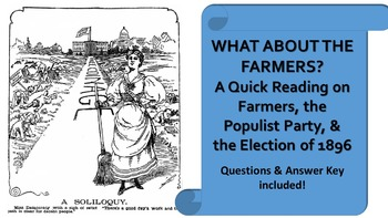 What About the Farmers?: Quick Reading on Populist Party
