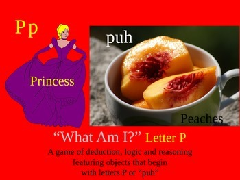 First Sound Fluency Letter P - Mystery Game - Literacy RTI