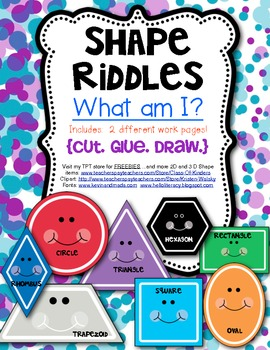 What Am I? (Math} Shape Riddles for 2D Shapes
