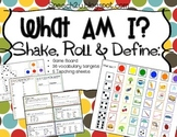 What Am I?  Speech Therapy: Vocabulary Definitions, Describing