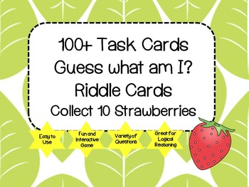 Riddle Task Cards