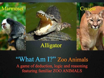 What Am I? Zoo Animals Mystery Game - Sight Word Fluency L