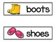 Clothing  Vocabulary Word Cards