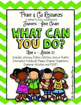 What Can You Do? - Journeys First Grade Print and Go