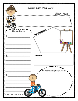 What Can You Do? Story Map - Graphic Organizer