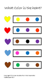 What Color is the Heart? Valentine Day Worksheet