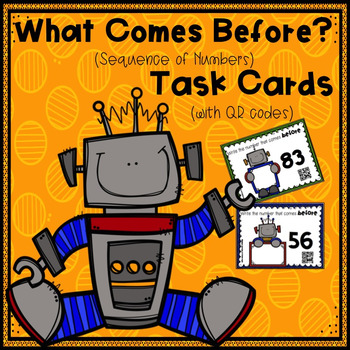 What Comes Before? (Sequence of Numbers) Task Cards