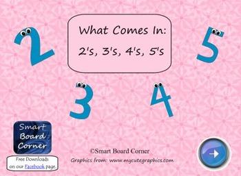 What Comes in 2's 3's 4's 5's Smart Board Lesson