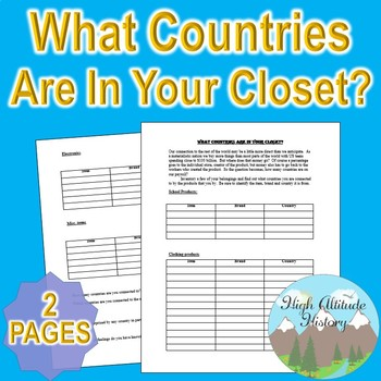What Countries are in your Closet? Primary Source Research