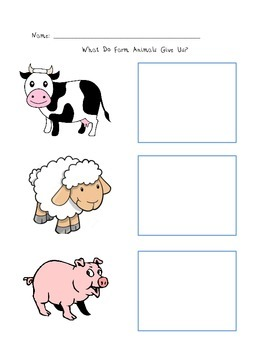 What Do Farm Animals Give Us?
