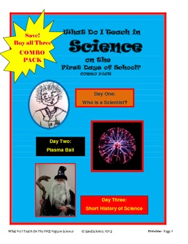 What Do I Teach On The First Days of School in Science: CO