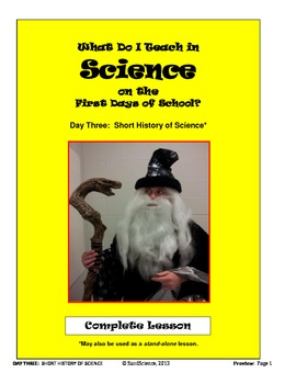 What Do I Teach on the First Days of School in Science:  D
