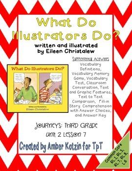 What Do Illustrators Do? Activities 3rd Grade Journeys: Un