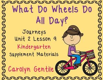 What Do Wheels Do? Journeys Kindergarten Unit 2 Lesson 9 S