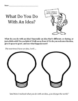 What Do You Do With An Idea? confidence, positive, growing