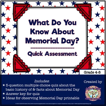 FREEBIE What Do You Know About Memorial Day?