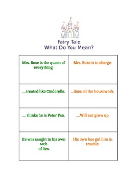 What Do You Mean? Fairy Tale Version / Figurative Language