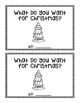 What Do You Want for Christmas?  emergent reader