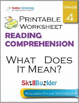 What Does It Mean? Printable Worksheet, Grade 4