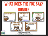 What Does The Fox Say BUNDLE!  A Word Work BUNDLE!