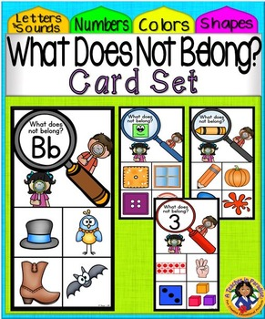 What Doesn't Belong Card Set Bundle
