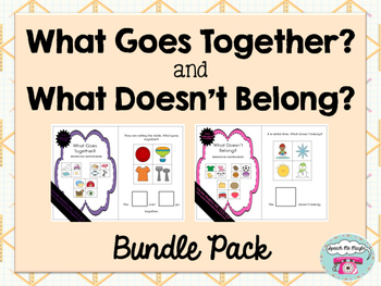 What Goes Together and What Doesn't Belong Bundle