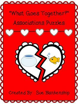 What Goes Together?  Valentine Association Puzzles