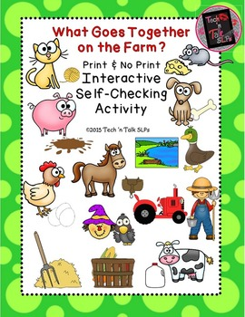 What Goes Together on the Farm - Interactive Self-Checking