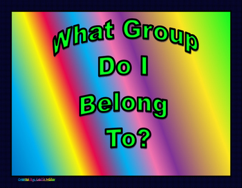 What Group Do I Belong To? Sort By Valence Electrons