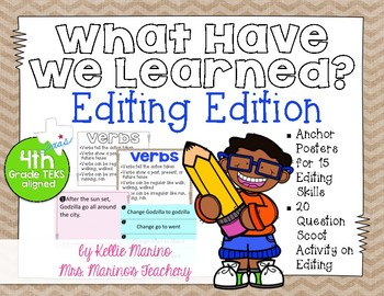 What Have We Learned? Editing Edition Anchor Charts and Activity