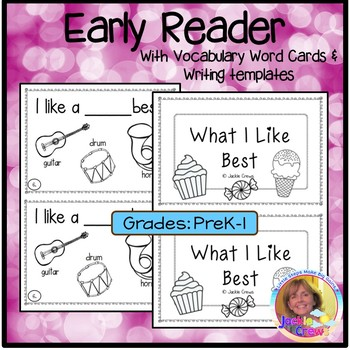 What I Like Best Interactive Beginning Reader
