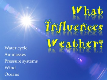 What Influences Weather (Powerpoint, Handout & Group Activ