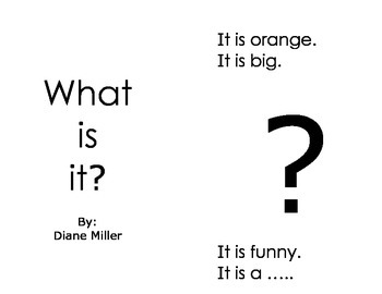 What Is It? Mini Reader - Sight Words / Phonics