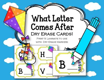 What Letter Comes After. Dry Erase Cards. ABC Order. Alphabet