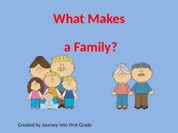 What Makes a Family (Unit 1) Journeys Kindergarten Common