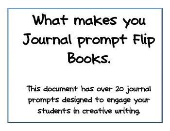 Writing Prompt Flip Books!