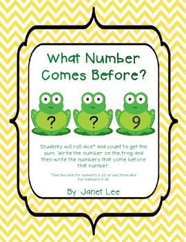 What Number Comes Before?