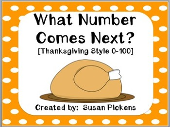 What Number Comes Next?  Thanksgiving Style 0-100