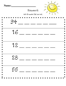 What Number Is Next Worksheets