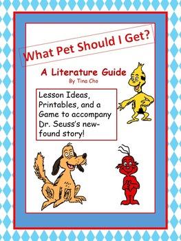 What Pet Should I Get? Literature Guide