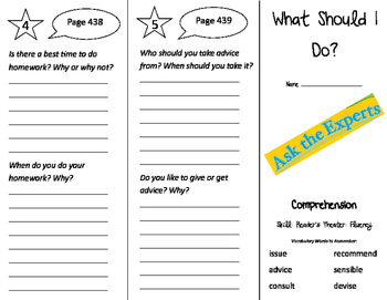 What Should I Do? Trifold - Storytown 3rd Grade Unit 3 Week 5