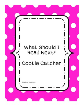 What Should I Read Next?  Genre Cootie Catcher