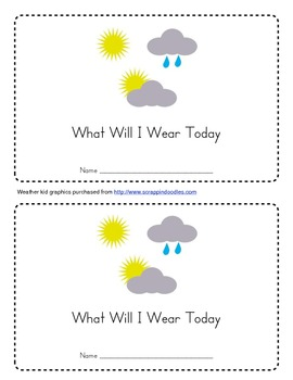 What Should I Wear Today? Emergent Reader